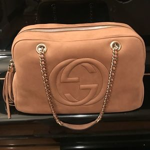 Authentic Gucci Large Soho Chain Bag